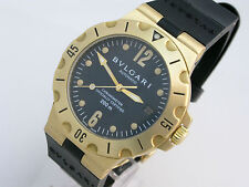 BVLGARI DIAGONO SCUBA 18ct GOLD SD 38 G AUTOMATIC, WITH ORIGINAL BOX & PAPERS