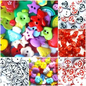 Resin/Plastic Colourful Sewing Button Mixed Animal, Flower, Cartoon For Children