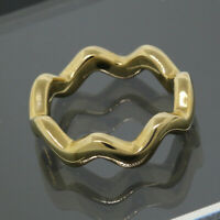 Vintage Tiffany & Co Paloma Picasso 18K Yellow Gold Zig Zag Band Ring Size 5.5