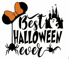 DISNEY BEST HALLOWEEN EVER MINNIE MOUSE:::::::::::::::::: SHIRT IRON ON TRANSFER