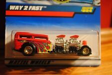 Hot Wheels Special Trailer Edition Coll # 994 Red Way-2-Fast With Real Riders