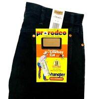 Men's Wrangler Jeans Cowboy Cut Black Denim Original Fit 13MWZ WK Bootcut New