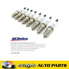 Holden Commodore V8 304 Injected Double Platinum Spark Plugs x 8 # 19315810