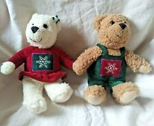 Hallmark Christmas Kissing Mistletoe Teddy Bears Plush Animals Love and Kiss