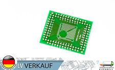 2Stück QFP/TQFP/LQFP/FQFP 32/44/64/80/100 0,8mm & 0,5mm DIP 2,56mm Adapter PCB