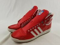 Adidas Originals Top Ten Hi Shoes Red Scarlet White Mens Sneakers Used size 18