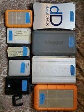 Lot of 9 used external hard drives (close to 7.5TB) wiped+ tested lacie datadeck