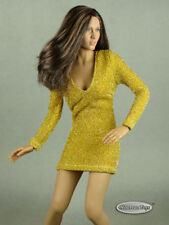 1/6 Scale Phicen, Hot Toys, Kumik & NT Sexy Female Gold Glitter Mini Party Dress