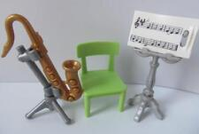 Playmobil Dollshouse/School Musical instrument - Saxophone & music stand NEW