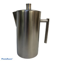 Stainless Steel Cafetiere French Press Coffee Maker And Plunger Filter 1 Litre