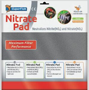 Superfish Nitrate Remover Filter Pad 45x25cm Cut Size Fits Most Aquarium Filters