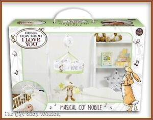 GUESS HOW MUCH I LOVE YOU MUSICAL COT MOBILE BABY GIFT LITTLE NUT BROWN NEW