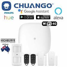 Chuango H4-LTE Wireless Smart Home Security Alarm System Door Window Sensors 4G