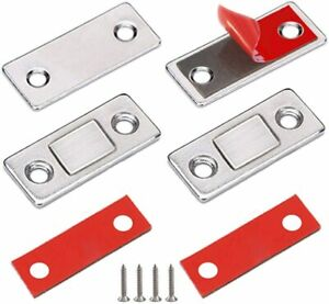 4Pcs Strong Magnetic Catch Latch Ultra Thin For Door Cabinet Cupboard Closer