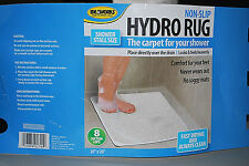 "Ideaworks White Non-Slip Hydro ""Shower"" Rug (20"" X 20"") (New) (#S6236)"