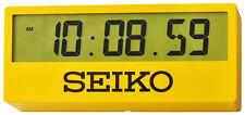 Seiko GRANDE DIGITALE OROLOGIO PARETE/Orologio da tavolo giallo qhl07