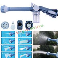 Garden 8in1 Water Jet Spray Gun Sprinkler Nozzle Wash Yard Car Watering Cleaning