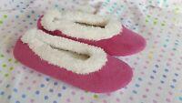 PajamaGram Fleece House Bedroom Slippers Soft Warm Cozy Raspberry Pink Sz L