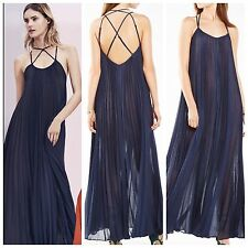 "BCBG  NWT ""Isadona"" Pleated maxi Party Dress Gown L SJG66H15"