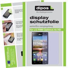 1x LG Optimus p880 4x HD lámina protectora mate protector de pantalla antireflex