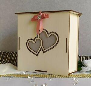 Libro Porta buste Wedding in legno  ideale per piccoli ricevimenti Small
