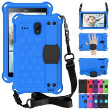 """For Samsung Galaxy Tab A E 8"""" inch Tablet Strap Portable Rubber Stand Case Cover"""