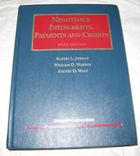 Negotiable Instruments Payments and Credits 5th Ed University Casebook Series