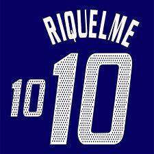 Riquelme 10. Argentina Away football shirt 2002 - 2003 FLEX NAMESET NAME SET