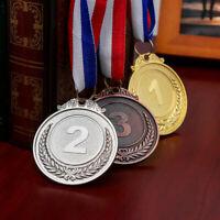 TOYANDONA 3-tlg Medaillenset Kinder Medaillen Pokal Preis Gold + Silber + Bronze