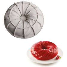 Silicone Cake Baking Mold Round Swirl Non-Stick Cake Mould for Baking Tool