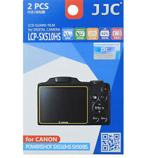 JJC LCP-SX510HS polycarbonate LCD Film Screen Protector For Canon SX510 SX500 2p