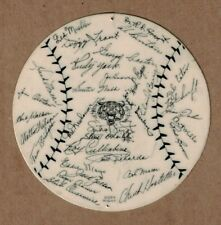 """1945 World Series - Detroit Tigers vs. Chicago Cubs 5"""" Disc Listing Players EX"""