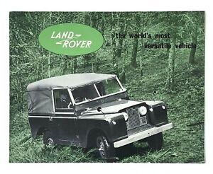 Vintage Land Rover Sales Brochure Worlds Most Versatile Vehicle 1960s