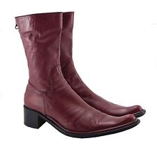 Rocco P Red Leather Cowboy Boots Italy 39 US 9