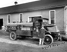 Photograph Vintage Texaco Oil Truck 1925c     8x10