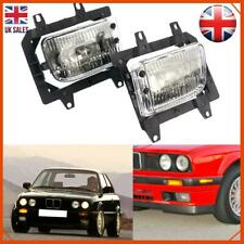 LR Pair Fog Light For BMW 3 Series E30 85-93 Lens Kit Front Bumper Replacement
