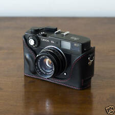 Mr. Zhou Black Leather Half Case with Red Stitches for Leica Minolta CL Cameras