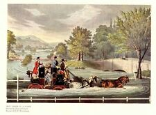 POSTAL HISTORY MAIL COACH, HORSES FOUR IN HAND, ANTIQUE