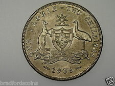 1936 Florin George V in Uncirculated Condition