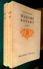 Madame Bovary - G.Flaubert / Larousse 1936 - 2 Tomes, Procès intenté à l'auteur