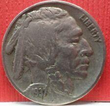 1937 American Bison Standing on Line Buffalo Nickel Circulated KM#134 A-806
