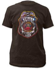 The Police-Distressed 1981 Tour Badge Logo-Large Coal T-shirt