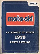 1979 MOTO-SKI SNOWMOBILE NUVIK PARTS MANUAL P/N 480 1100 00 (829)