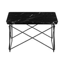 SALE!! SAVE $50!! Eames Style Side Coffee End Table Black Marble Top Black Base