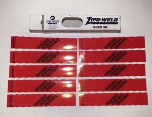 LOT Of 10 - Evidence Red Security Tape Strip Seal Zipr-Weld NOS