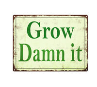 Gardener Wanted Bending over vine Metal Sign Vintage Look Garden Funny 9x12 SS44