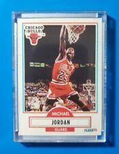 1990-91 Fleer #26 MICHAEL JORDAN (Chicago Bulls) (NM-MT) *NBA GOAT* SHARP CARD!!