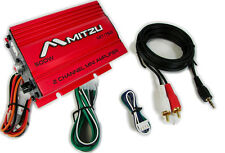 Mitzu Mit75RED Motorcycle Car ATV Golf Cart 2CH Audio Stereo Mini Amplifier Amp
