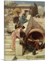 ARTCANVAS Diogenes 1882 Canvas Art Print by John William Waterhouse