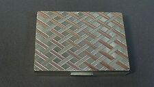 Vintage Sterling Silver Weave Pattern Powder Compact